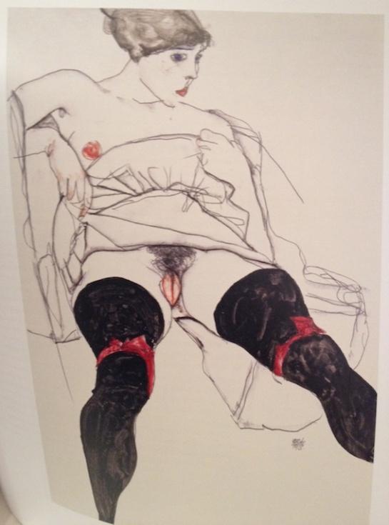 Schiele woman